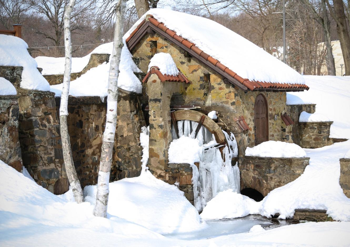 Waterwheel in Snow